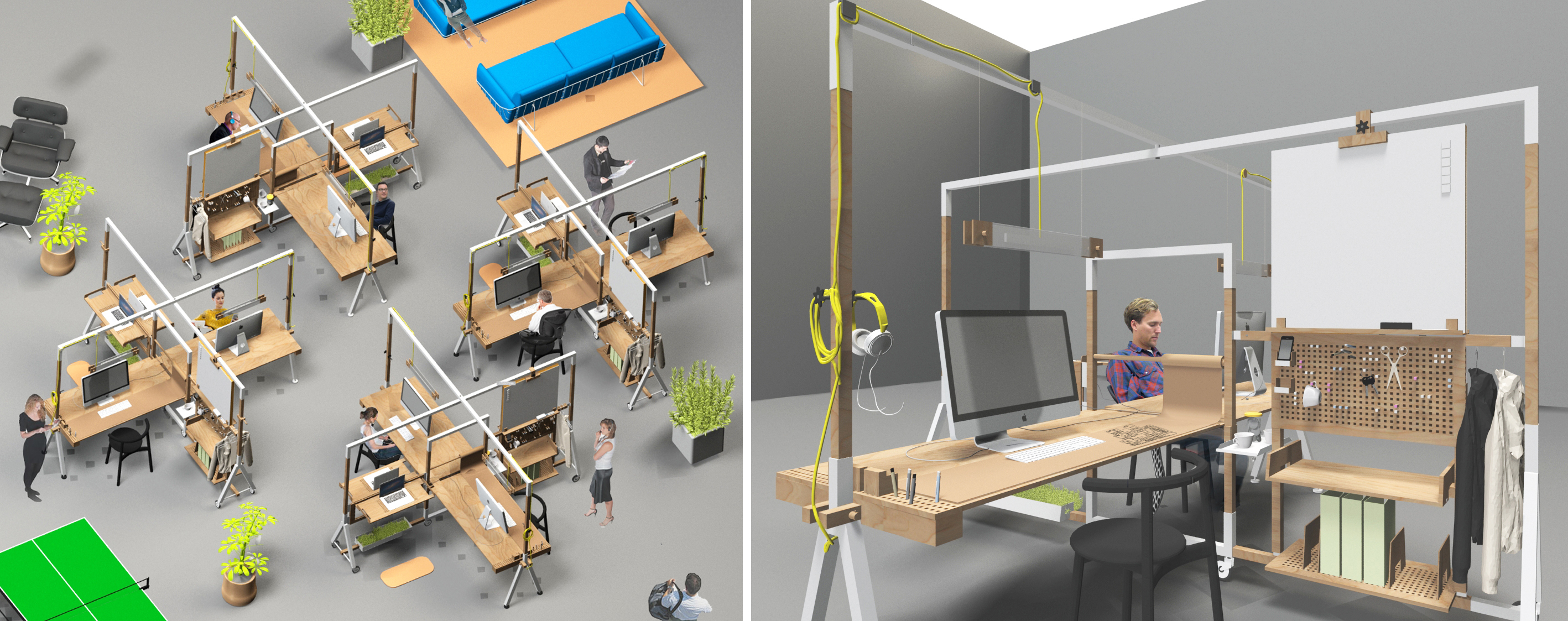 Innovative workstations for creativity